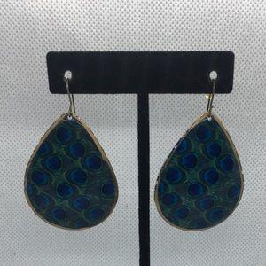 4 for $12: Peacock Pattern Earrings